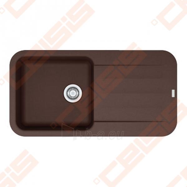 Fragranit universali pagal įstatymo puses plautuvė FRANKE Pebel PBG611-97 su ekscentriniu ventiliu ir indu, šokolado spalvos Paveikslėlis 1 iš 2 270712000752