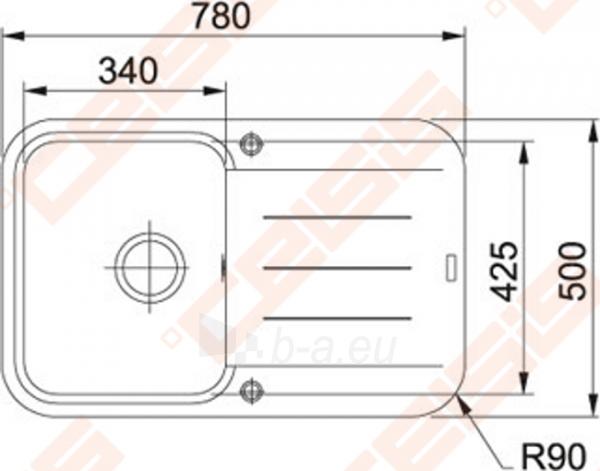 Fragranit universali pagal įstatymo puses plautuvė FRANKE Pebel PBG611 su ekscentriniu ventiliu ir indu, juodos spalvos Paveikslėlis 2 iš 3 270712000741