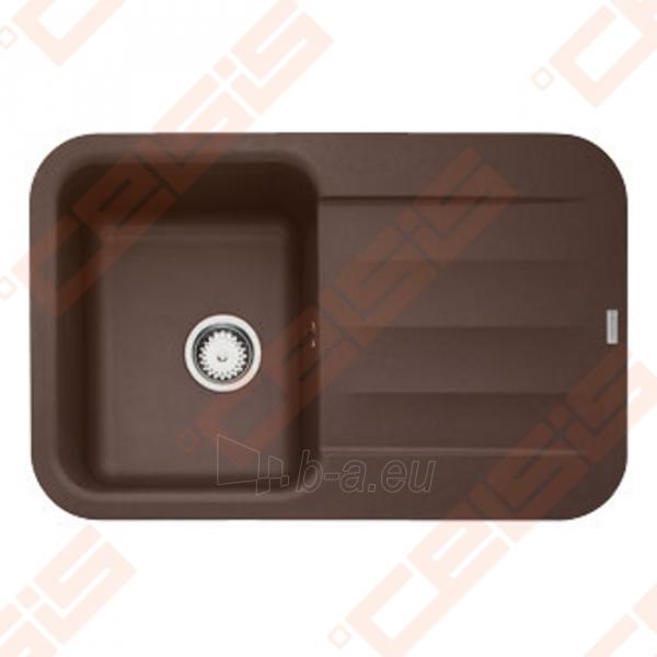 Fragranit universali pagal įstatymo puses plautuvė FRANKE Pebel PBG611 su ekscentriniu ventiliu ir indu, šokolado spalvos Paveikslėlis 1 iš 3 270712000745