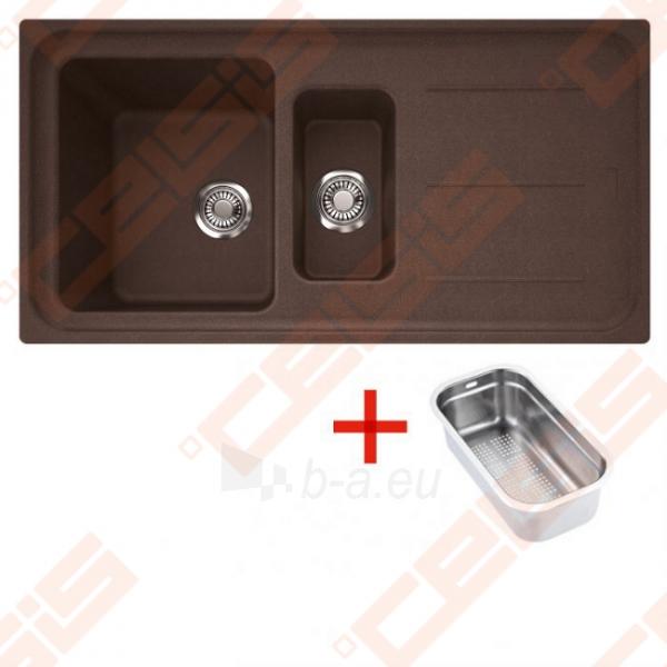 Fragranit universali plautuvė FRANKE Impact G IMG651 su ventiliu ir indu, šokolado spalvos Paveikslėlis 1 iš 2 270712000789