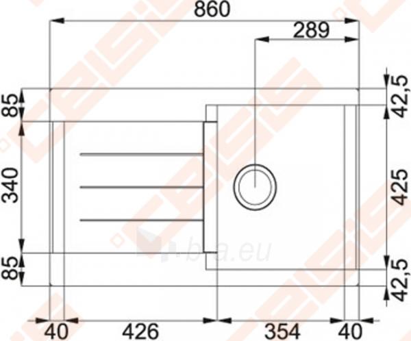 Fragranit universali plautuvė FRANKE Java JAG611 su ekscentriniu ventiliu, akmens pilkos spalvos Paveikslėlis 2 iš 2 270712000791