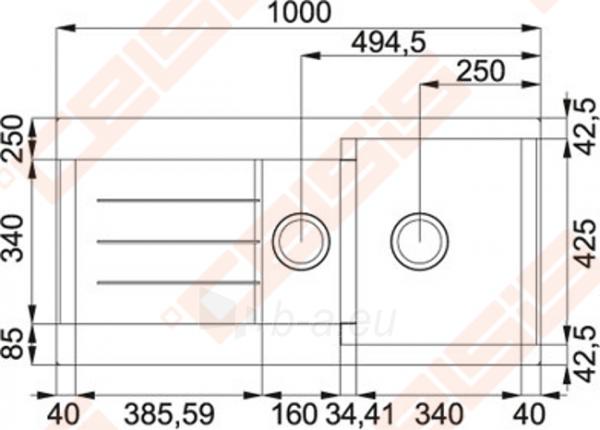 Fragranit universali plautuvė FRANKE Java JAG651 su ekscentriniu ventiliu, biežinės spalvos Paveikslėlis 2 iš 2 270712000799