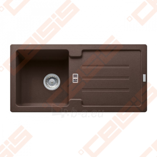 Fragranit universali plautuvė FRANKE Strata STG614 su ekscentriniu ventiliu, šokolado spalvos Paveikslėlis 1 iš 3 270712000841