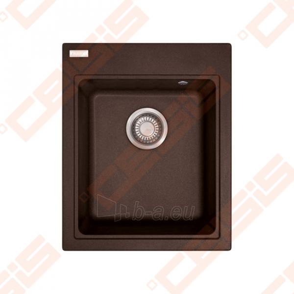 Fragraniti plautuvė FRANKE Maris MRG610-42 su ventiliu, šokolado spalvos Paveikslėlis 1 iš 3 270712000862