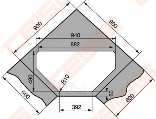 Fragraniti plautuvė FRANKE Maris MRG612-E su ventiliu, grafito spalvos Paveikslėlis 3 iš 3 270712000868