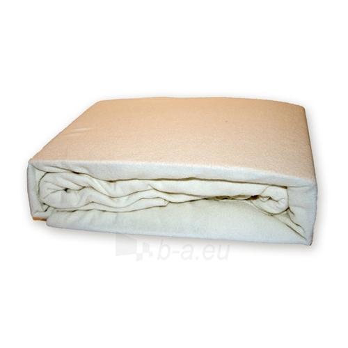 Frotinė paklodė su guma (balta), 200x220 cm Paveikslėlis 1 iš 1 30115600002