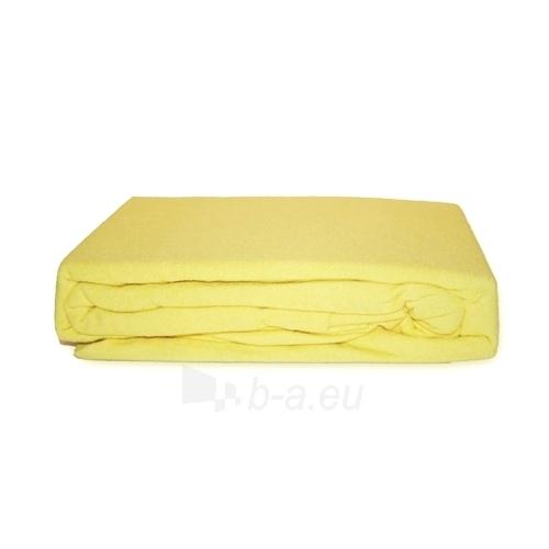 Frotinė paklodė su guma (gelsva), 200x220 cm Paveikslėlis 1 iš 1 30115600003