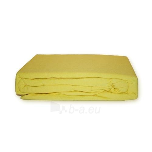 Frotinė paklodė su guma (geltona), 160x200 cm Paveikslėlis 1 iš 1 30115600004
