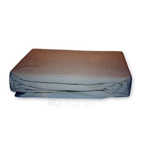 Frotinė paklodė su guma (pilka), 160x200 cm Paveikslėlis 1 iš 1 30115600008