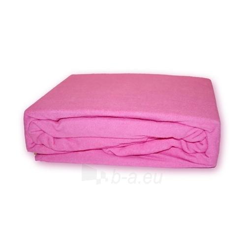 Frotinė paklodė su guma (rožinė), 200x220 cm Paveikslėlis 1 iš 1 30115600015
