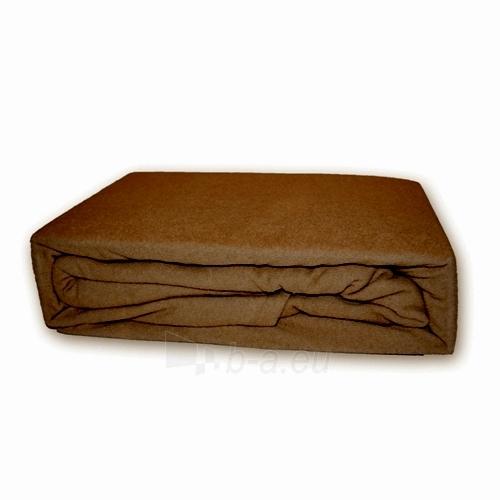 Frotinė paklodė su guma (ruda), 160x200 cm Paveikslėlis 1 iš 1 30115600066