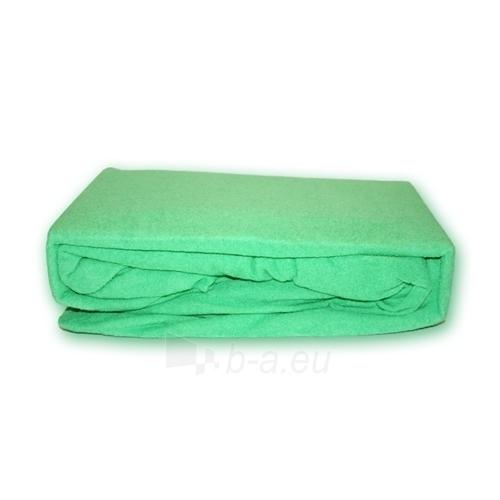 Frotinė paklodė su guma (Žalia), 160x200 cm Paveikslėlis 1 iš 1 30115600017