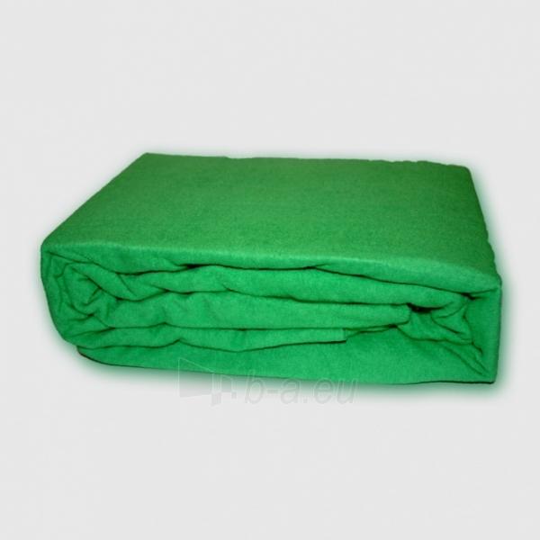 Frotinė paklodė su guma (žalia), 200x220 cm Paveikslėlis 1 iš 1 30115600019