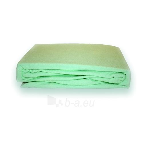 Frotinė paklodė su guma (Žalsva), 160x200 cm Paveikslėlis 1 iš 1 30115600020