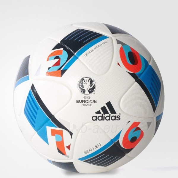 Futbolo kamuolys adidas Beau Jeu OMB EURO16 AC5415 Paveikslėlis 1 iš 2 310820001617