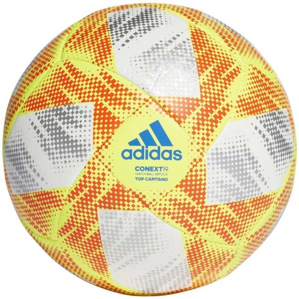Futbolo kamuolys ADIDAS CONEXT 19 TOP CAPITANO DN8636 white-yellow Paveikslėlis 1 iš 5 310820168922