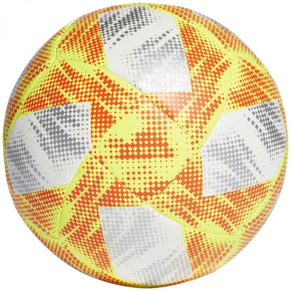 Futbolo kamuolys ADIDAS CONEXT 19 TOP CAPITANO DN8636 white-yellow Paveikslėlis 2 iš 5 310820168922