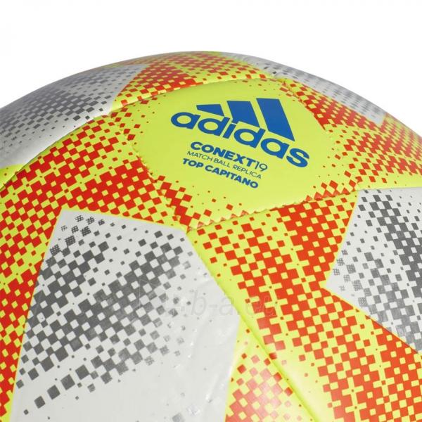 Futbolo kamuolys ADIDAS CONEXT 19 TOP CAPITANO DN8636 white-yellow Paveikslėlis 3 iš 5 310820168922