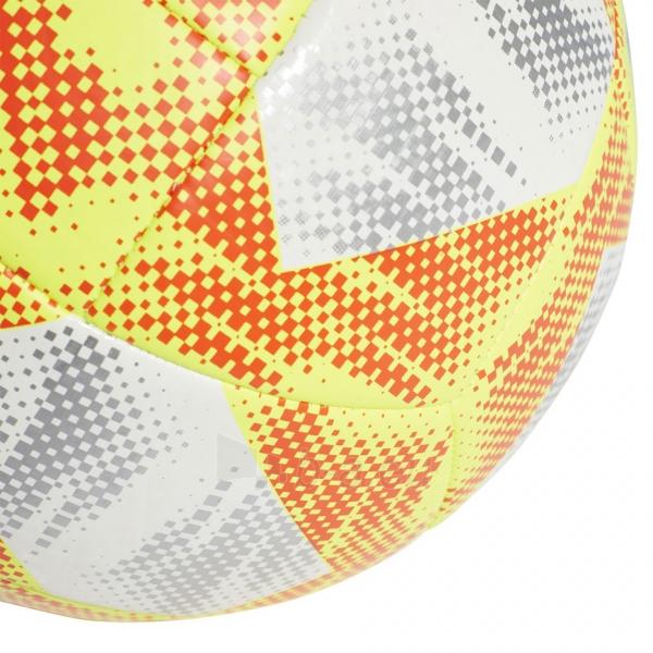 Futbolo kamuolys ADIDAS CONEXT 19 TOP CAPITANO DN8636 white-yellow Paveikslėlis 5 iš 5 310820168922