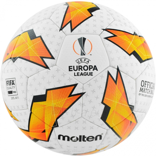 Futbolo kamuolys Molten Official UEFA Europa League F5U5003-G18 Paveikslėlis 2 iš 6 310820173916