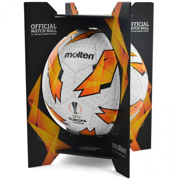 Futbolo kamuolys Molten Official UEFA Europa League F5U5003-G18 Paveikslėlis 5 iš 6 310820173916