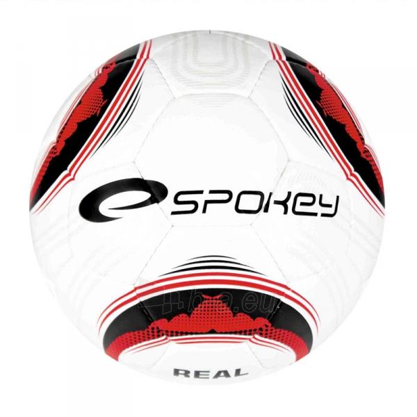 Futbolo kamuolys Spokey REAL BLACK/RED-N Paveikslėlis 1 iš 1 310820001349