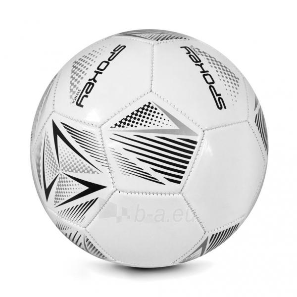 Futbolo kamuolys Spokey STENCIL baltas/pilkas Paveikslėlis 1 iš 1 310820216099