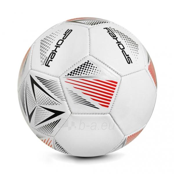 Futbolo kamuolys Spokey STENCIL baltas/raudonas Paveikslėlis 1 iš 1 310820216098