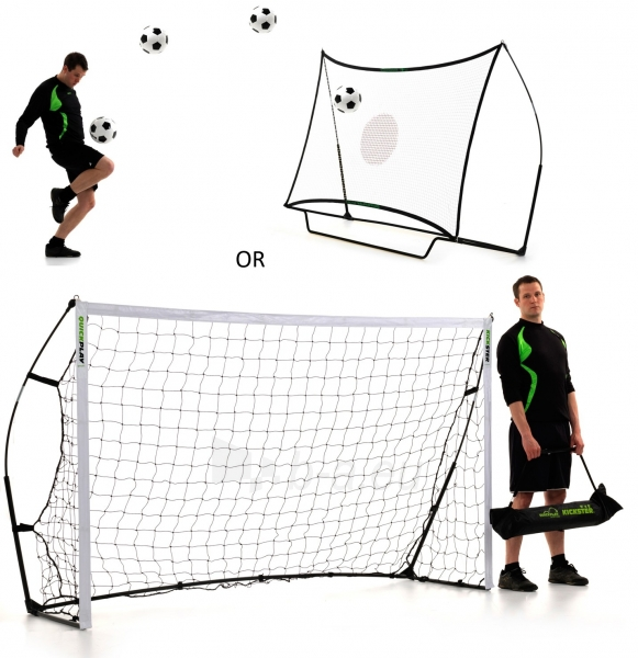 Futbolo vartai QuickPlay 2.4 x 1.5 m + batutas Paveikslėlis 1 iš 4 310820018319