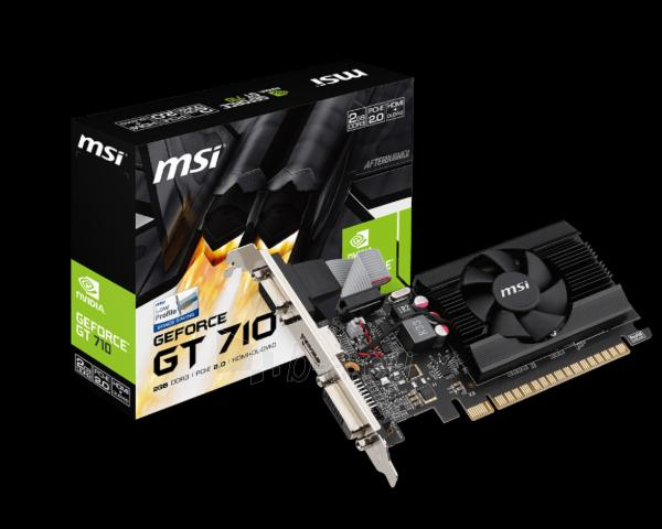 Gainward GeForce GT 710, 1GB DDR3 (Bit), HDMI, DVI, HEAT SINK Paveikslėlis 1 iš 1 310820013522