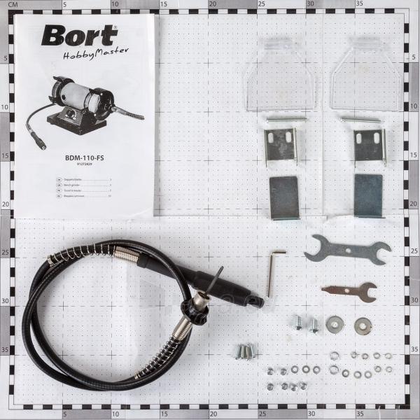 Galąstuvas - šlifavimo mašinėlė su lanksčiu velenu BORT BDM-110-FS Paveikslėlis 4 iš 4 310820193748