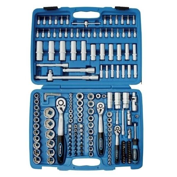 Galvučių ir raktų komplektas 1/4''+3/8''+1/2'', 171 vnt. Stahlberg H-171X Paveikslėlis 1 iš 2 300459000154