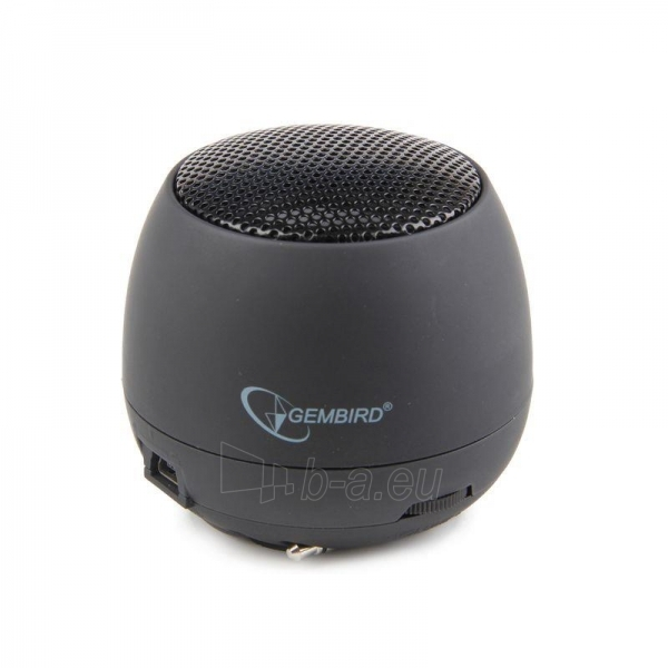 Gembird portable speaker (iPod, MP3 player, mobile phone, laptop), black Paveikslėlis 1 iš 7 250214000694