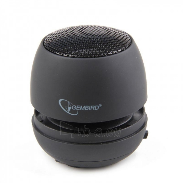 Gembird portable speaker (iPod, MP3 player, mobile phone, laptop), black Paveikslėlis 2 iš 7 250214000694