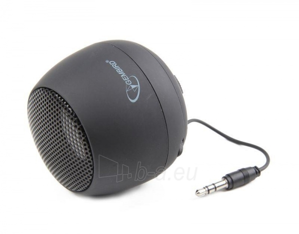 Gembird portable speaker (iPod, MP3 player, mobile phone, laptop), black Paveikslėlis 3 iš 7 250214000694