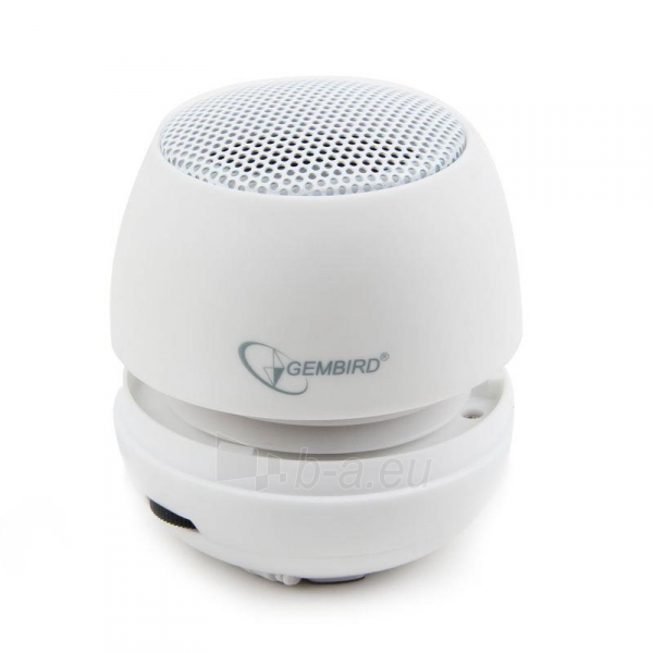 Gembird portable speaker (iPod, MP3 player, mobile phone, laptop), white Paveikslėlis 2 iš 7 250214000696