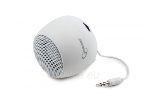 Gembird portable speaker (iPod, MP3 player, mobile phone, laptop), white Paveikslėlis 3 iš 7 250214000696