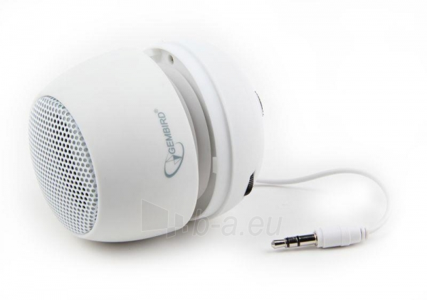 Gembird portable speaker (iPod, MP3 player, mobile phone, laptop), white Paveikslėlis 4 iš 7 250214000696
