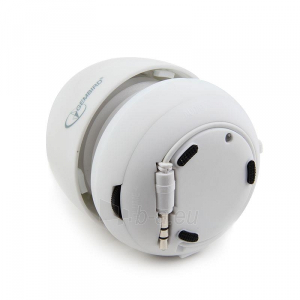 Gembird portable speaker (iPod, MP3 player, mobile phone, laptop), white Paveikslėlis 5 iš 7 250214000696