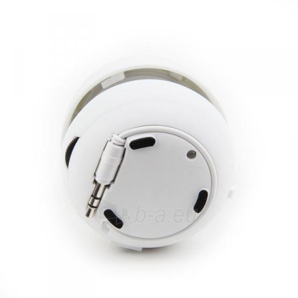 Gembird portable speaker (iPod, MP3 player, mobile phone, laptop), white Paveikslėlis 6 iš 7 250214000696
