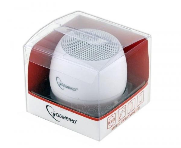 Gembird portable speaker (iPod, MP3 player, mobile phone, laptop), white Paveikslėlis 7 iš 7 250214000696