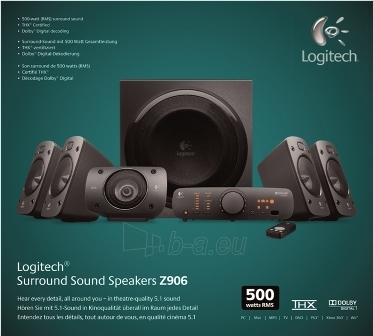 LOGITECH SURROUND SOUND SPEAKER Z906 Paveikslėlis 5 iš 5 250255800137
