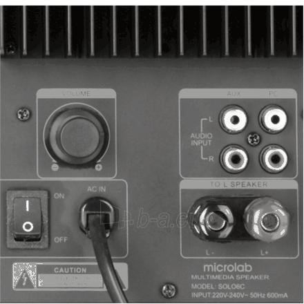 Garso kolonėlė Microlab SOLO6C 2.0 Speakers/ 100W RMS (50W+50W)/ Remote Control Paveikslėlis 6 iš 6 250214000084