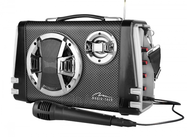 Garso kolonėlės Portable Bluetooth speaker system MediaTech Karaoke Boombox BT with mic. Paveikslėlis 1 iš 3 310820042302