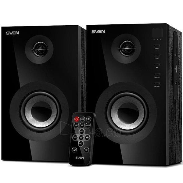 Garso kolonėlės Speakers SVEN SPS-615, black (20W, USB/SD, RC, Bluetooth) Paveikslėlis 1 iš 1 310820042194