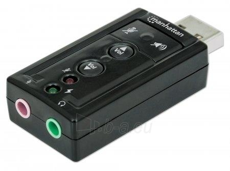 Manhattan Sound card Hi-Speed USB virtual 3D 7.1 with volume control Paveikslėlis 1 iš 8 2502552400072