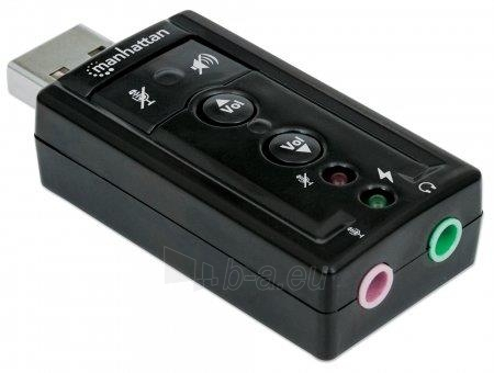 Manhattan Sound card Hi-Speed USB virtual 3D 7.1 with volume control Paveikslėlis 5 iš 8 2502552400072