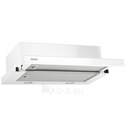 Gartraukis Eleyus Storm 960 60 WH LED Built-in telescopic, Width 60 cm, 960 m³/h, White, Energy efficiency class E, 51 dB, Mechanical panel Paveikslėlis 2 iš 8 310820135394