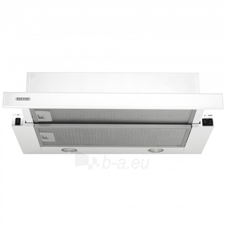 Gartraukis Eleyus Storm 960 60 WH LED Built-in telescopic, Width 60 cm, 960 m³/h, White, Energy efficiency class E, 51 dB, Mechanical panel Paveikslėlis 3 iš 8 310820135394