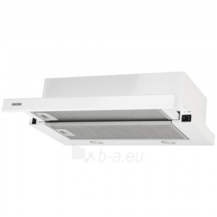 Gartraukis Eleyus Storm 960 60 WH LED Built-in telescopic, Width 60 cm, 960 m³/h, White, Energy efficiency class E, 51 dB, Mechanical panel Paveikslėlis 4 iš 8 310820135394